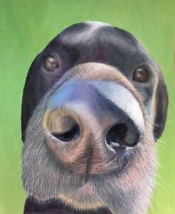 Painting of Jack the Labrador Retriever