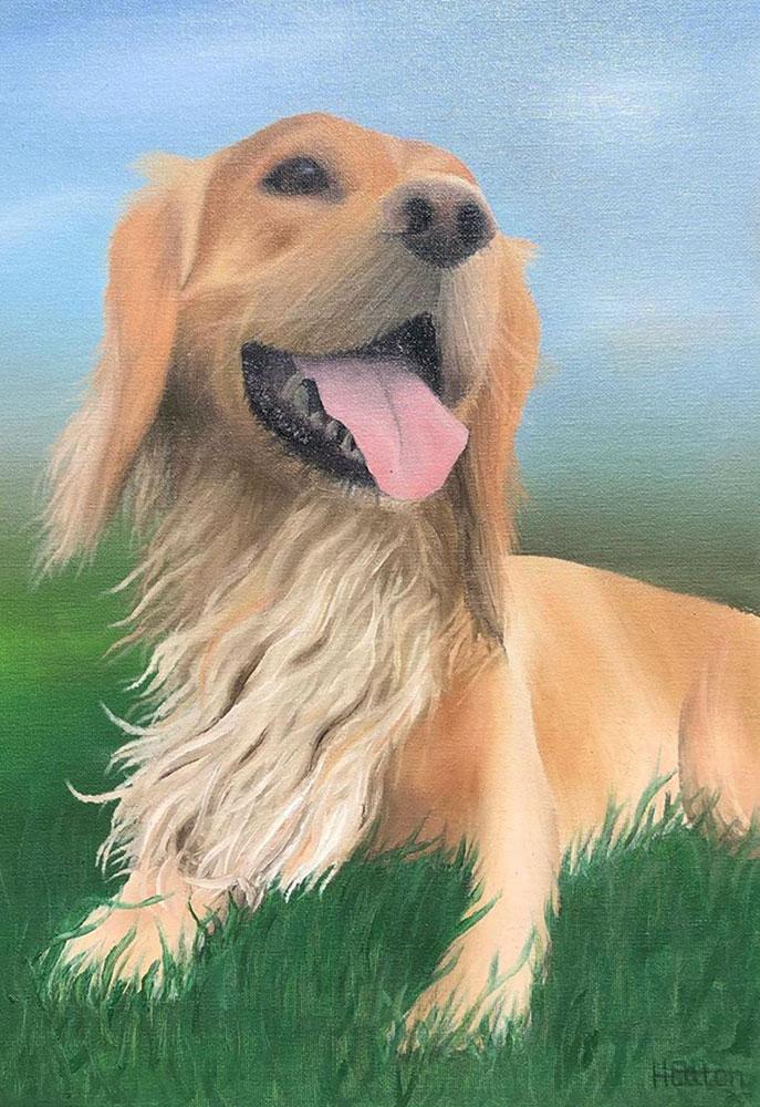 Blaze dog portrait