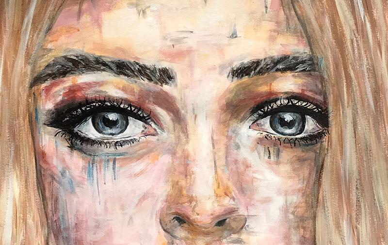 painting style eyes